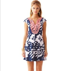 Briella Fit and Flare Cap Sleeve Dress Bright Navy